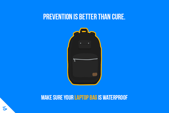 Make sure your laptop bag is waterproof!  #Business #Technology #Innovations