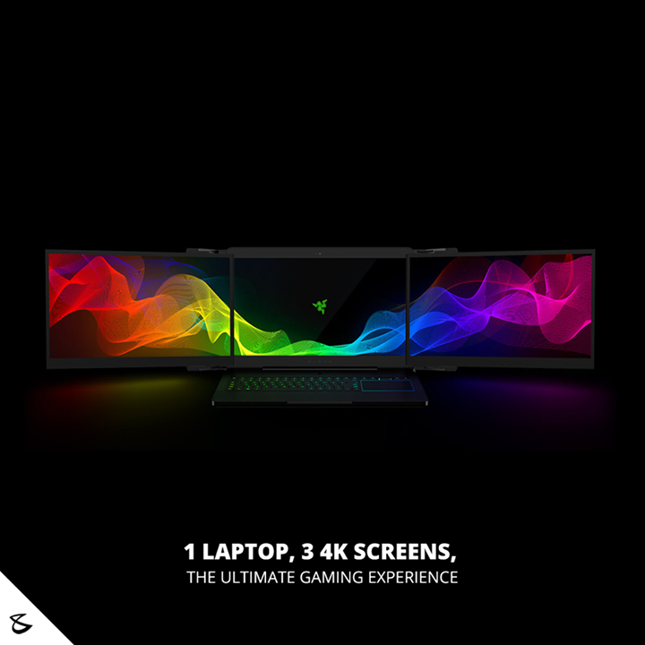 Tech News:  1 laptop, 3 4K screens, the ultimate gaming experience #Razer's concept device called 'Project Valerie' is going right against the current of how laptops are made. It's not small or light.  Instead, it has three 4K screens that offer 12K resolution. The extra screens automatically fold in and out like wings.   #Business #Technology #Innovations #CompuBrain