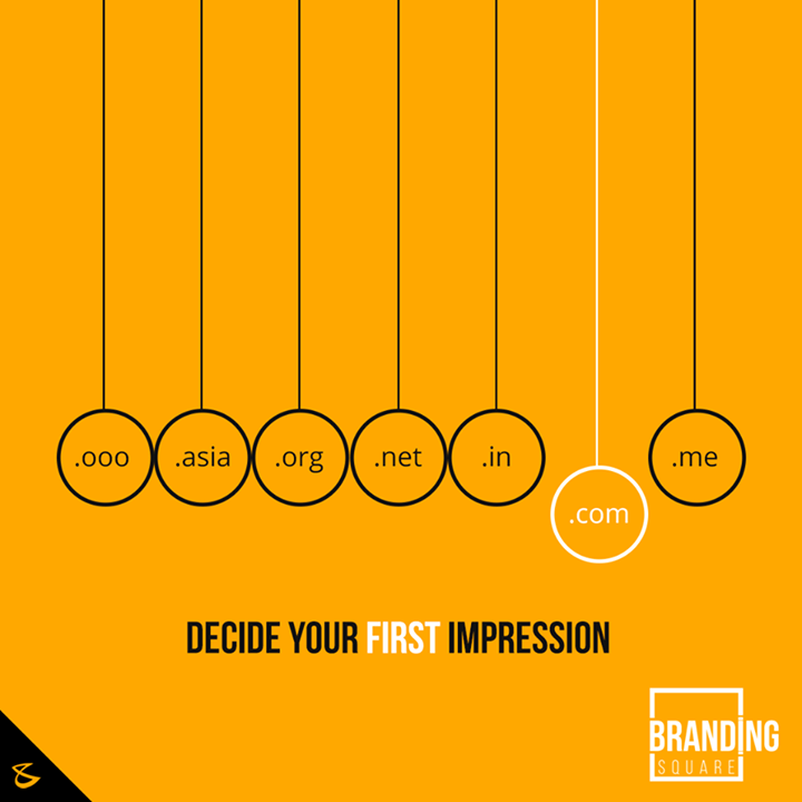 Decide your first impression. For more visit: brandingsquare.com  #Business #Technology #Innovations #BrandingSquare #Domain
