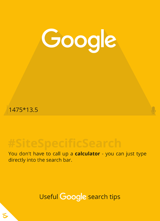 You don't have to call up a calculator - you can just type directly into the search bar.  #SiteSpecificSearch #Google #GoogleSearch #SearchTips #Business #Technology #Innovations #CompuBrain