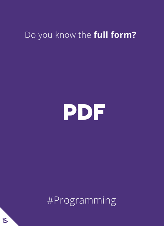 Do you know the full-form of PDF?  #Business #Technology #Innovations #CompuBrain