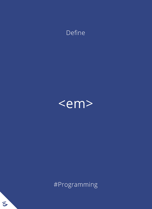 Define <em> HTML tag ?  #Programming #Business #Technology #Innovations #CompuBrain