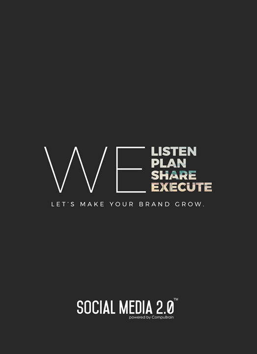 We Listen, We Plan, We Share, We Execute  #SearchEngineOptimization #SocialMedia2p0 #sm2p0 #contentstrategy #SocialMediaStrategy #DigitalStrategy #DigitalCampaigns