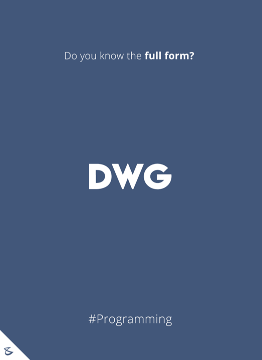Do you know the full form of DWG?  #Business #Technology #Innovations #CompuBrain