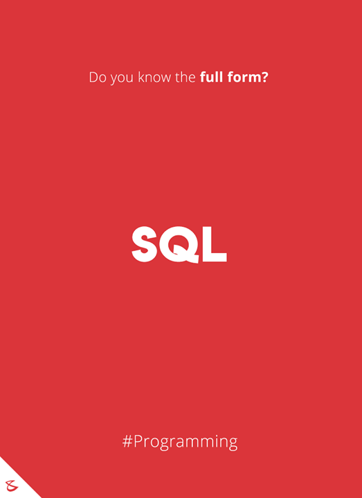 Do you know the full form of SQL?  #Business #Technology #Innovations #CompuBrain #sql #Programming