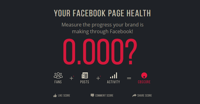 Measure your Facebook page health  Visit: https://cbscore.xyz/  #Business #Technology #Innovations #CompuBrain #CBScore