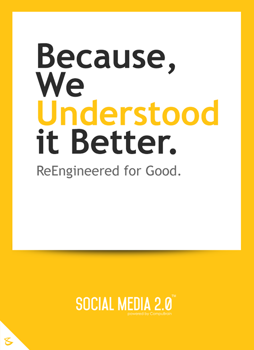 Re Engineered for Good !  #CompuBrain #Business #Technology #Innovations #SocialMediaAgency #SM2P0