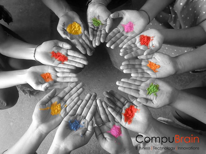 :: Different People Different Colour  One Celebration  Wish you a Happy & Colourful HOLI :: - Team CompuBrain