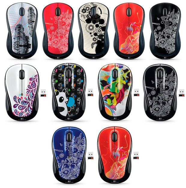 :: Logitech Global Graffiti Collection Wireless Mouse / Keyboard :: Logitech spiffs up their Wireless Mouse M310, Wireless Mouse M325, and Wireless Keyboard K360 with stylish, colorful designs inspired by the global community. The new Global Graffiti Collection of computer accessories features colors and patterns that mix global trends with local influences, so you can pick and choose a combination that expresses your personality to the world.   The Collection features authentic designs, true-to-life colors and textures mixed with surreal patterns. Each design is distinctly different yet part of a whole, so you get something that feels both individually unique and globally connected.