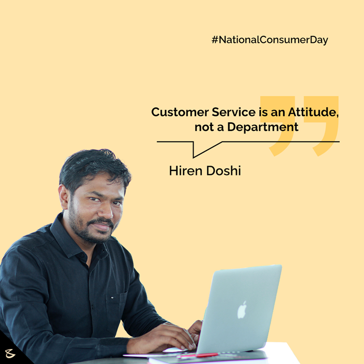 Customer Service is an Attitude, not a Department  #NationalConsumerDay #NationalConsumerDay2020 #Consumer #CompuBrain #Business #Technology #Innovations