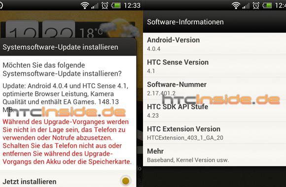 HTC One X gets Android 4.0.4 with Sense 4.1 OTA update - 