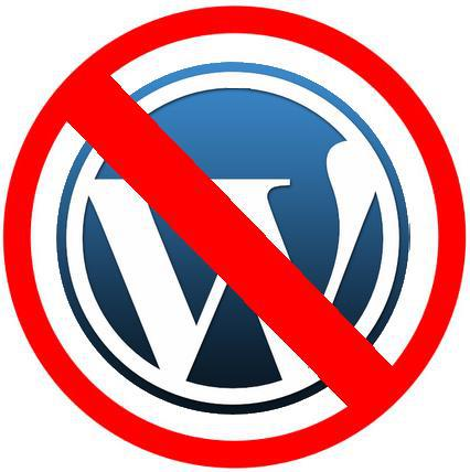 Wordpress domain name banned