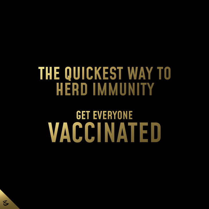 Let's build a powerful herd that can act as a shield for everyone.   #GetVaccinated #Corona #CompuBrain #Business #Technology #Innovations