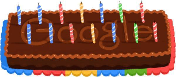 Google's 14th anniversary with a delicious doodle!
