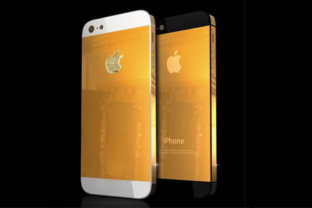 Most expensive: The gold-plated iPhone 5