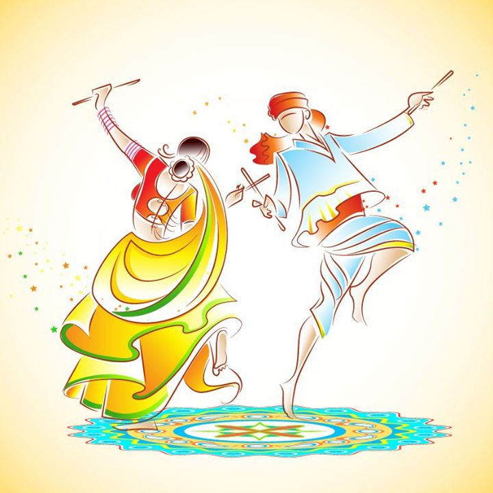 The festival when you won't complain about tired feet! Here's wishing you all a Happy Navratri :)