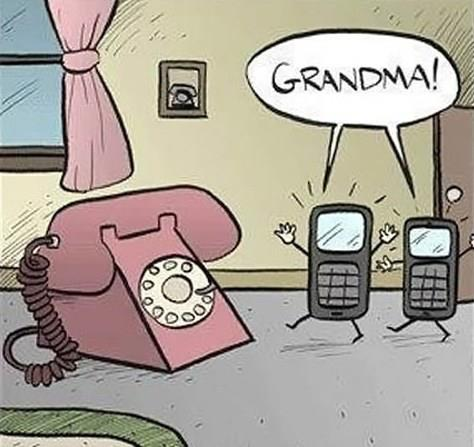 Did you ever think what the New generation mobile phones had to say to the older telephones? ;)
