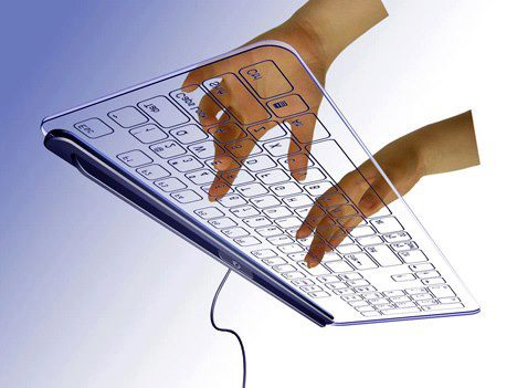 Check out the transparent glass keyboard. Would you like to own it ?