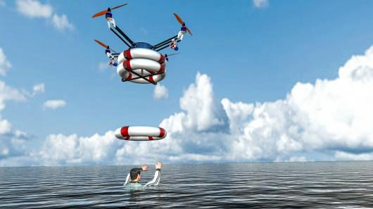 RTS Lab is developing Pars, a robotic quadcopter that launches from a floating platform and drops life preservers near people in the ocean who are in trouble.