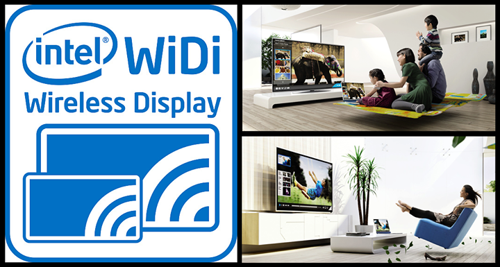 Intel® Wireless Display (WiDi)  Make any experience on your PC a more entertaining one—Intel® Wireless Display (WiDi) lets you easily stream all the things you love directly to your big screen HDTV.  So, now whenever you shop any mobile device, confirm if it support Wireless Display or not..!