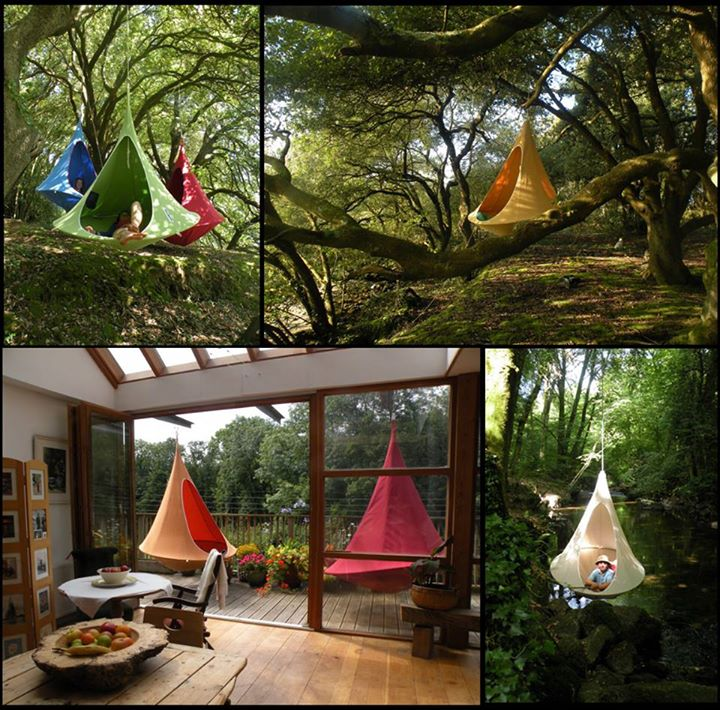 Cacoon hanging treehouse for all