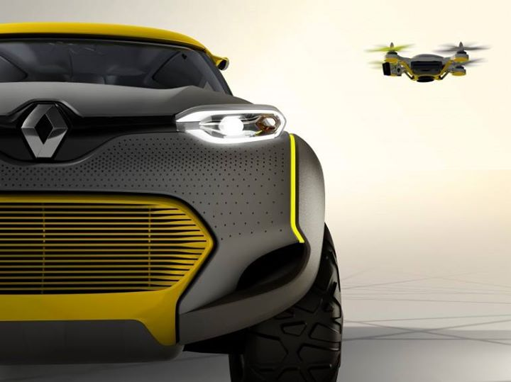 Renault's KWID Concept comes with its own Flying Companion quadcopter  Unveiled at the New Delhi Auto Show, the KWID Concept was tailored to meet the needs of Indian drivers, with room for five-passengers and an interior designed to work better in warmer climates  To the left of the steering wheel, an integrated console manages KWID's unique selling proposition – the one of a kind built-in Flying Companion. The proprietary quadcopter, hidden beneath a rear pivoting roof section, is a world first feature that can be operated remotely from inside the cockpit.  In automatic mode, the Flying Companion can be run through a programmed flying sequence using GPS coordinates, or in manual mode can be driven by passengers inside the car via an integrated tablet. Although what may appear gimmicky at first, the Flying Companion's ability to scout traffic, road conditions, or surroundings while taking photographs makes it a viable idea for future designs.