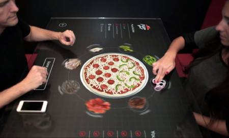... New Pizza Hut Tables Will Allow You To Design Your Pizza On A Touchscreen Table ...  We are always fascinated by whats going to come in future. Every company is trying to get an advantage over the competition by coming up with something unique and novel. Recently, Pizza Hut revealed their new Touchscreen table pizza ordering system.