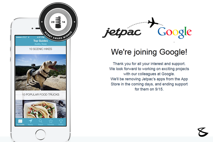 #TechFacts :   #Google is buying the travel app startup JetPac for an undisclosed amount of money, JetPac announced Monday.
