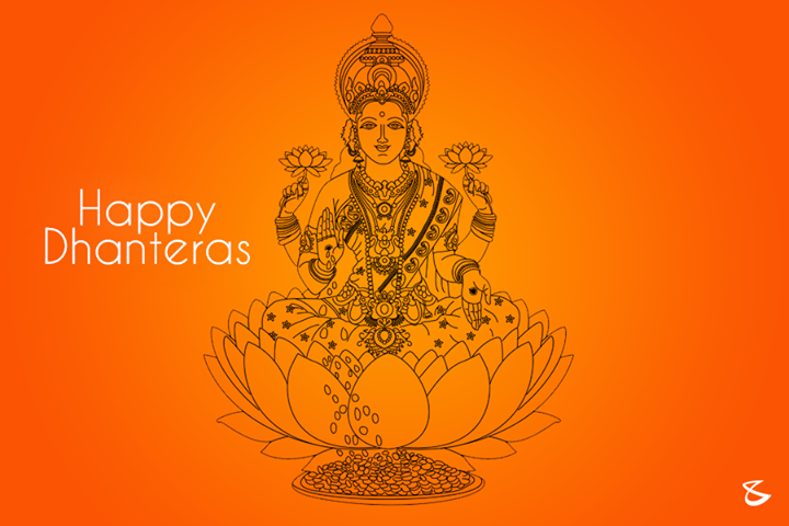 May goddess Laxmi shower her blessings upon you.. Happy #Dhanteras.