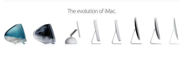 The evolution of #iMac!  #Business #Technology #Innovation