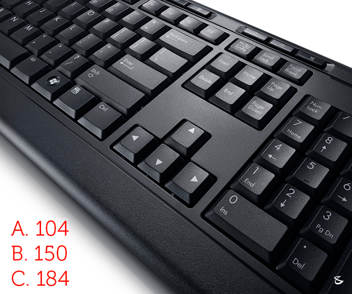 Do you know how many keys are there on a standard keyboard?  #Business #Technology #Innovation