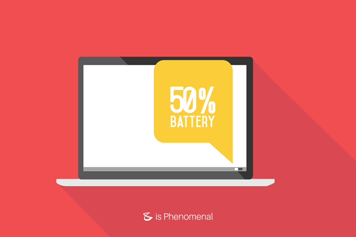 #TechTip Try and store your laptop when it's 50% charged. Storing it at fully charged or discharged can lead to short battery life.