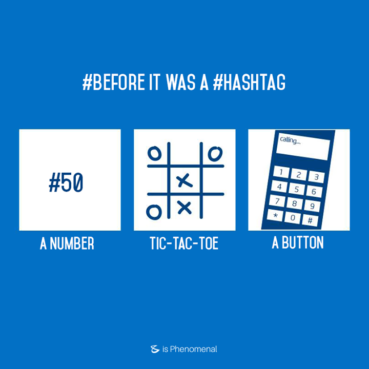 "This was the ""#"" before it became the famous #hashtag. What other examples can you share?  #Business #Technology #Innovations"
