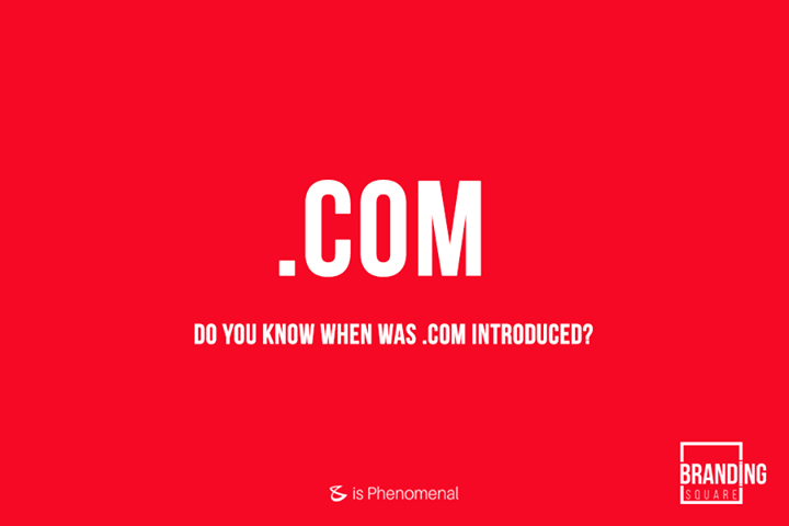 Do you know when was .com introduced?  #Business #Technology #Innovations