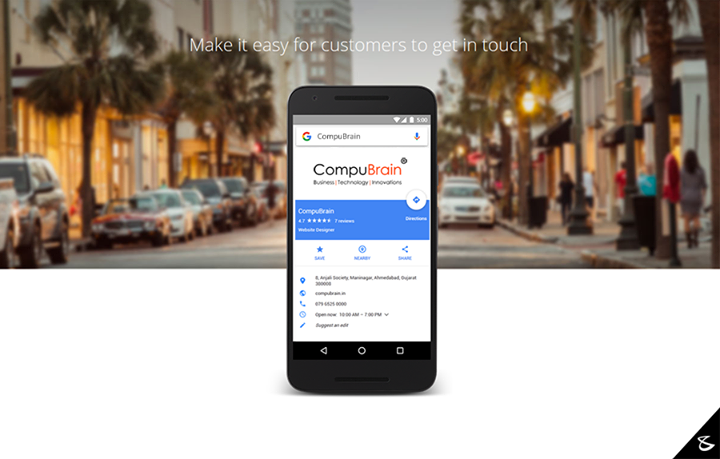 Technology made easy! Give customers the right info at the right time, whether that be driving directions to your business in Maps, hours of operations in Search or a phone number they can click to call you on mobile phones.   #Business #Technology #Innovations #GoogleMap #Google
