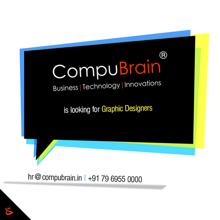 Do you have the nag for #designing? We are #Hiring!   #GraphicDesigners #CompuBrain #SocialMedia #Recruitment #Ahmedabad