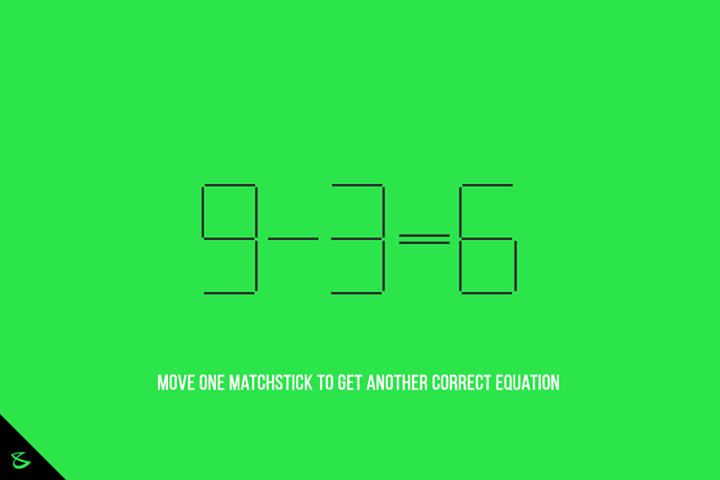 Move one matchstick to get another correct equation! Can you do it?  #Business #Technology #Innovations