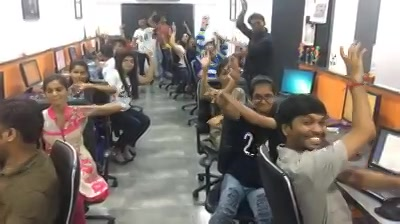 #TeamCompuBrain prepping up for #Navratri2017! Ae halo!