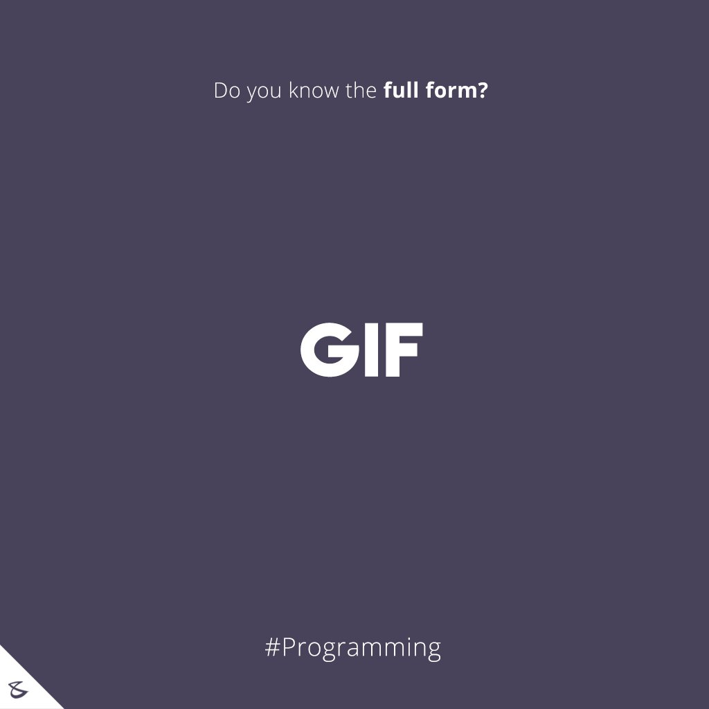 Do you know the full form of GIF?  #Business #Technology #Innovations #CompuBrain https://t.co/tVZ5pmZDnJ