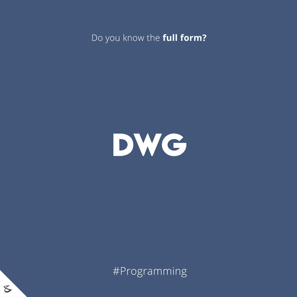 Do you know the full form of DWG?  #Business #Technology #Innovations #CompuBrain https://t.co/PrkkWhEPi7