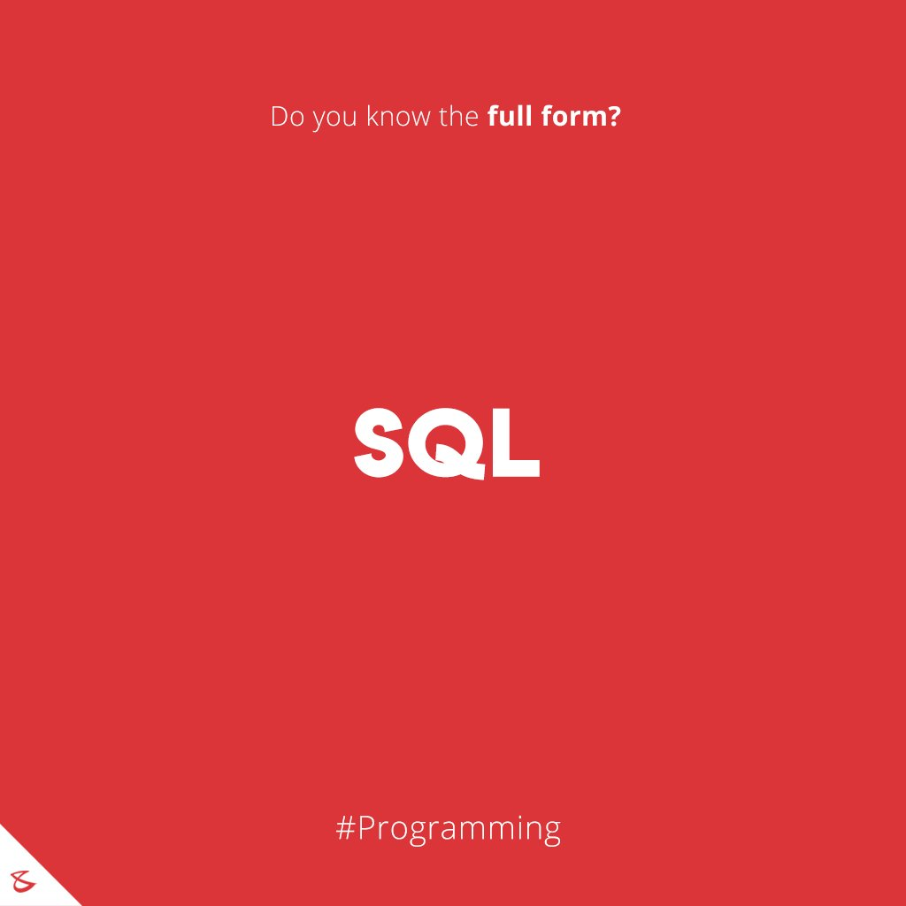 Do you know the full form of SQL?  #Business #Technology #Innovations #CompuBrain #sql #Programming https://t.co/rWaPNm4aJj