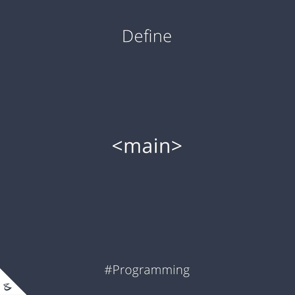 Can you define <main> tag?  #Business #Technology #Innovations #CompuBrain #Programming https://t.co/H3HOfPXvCl