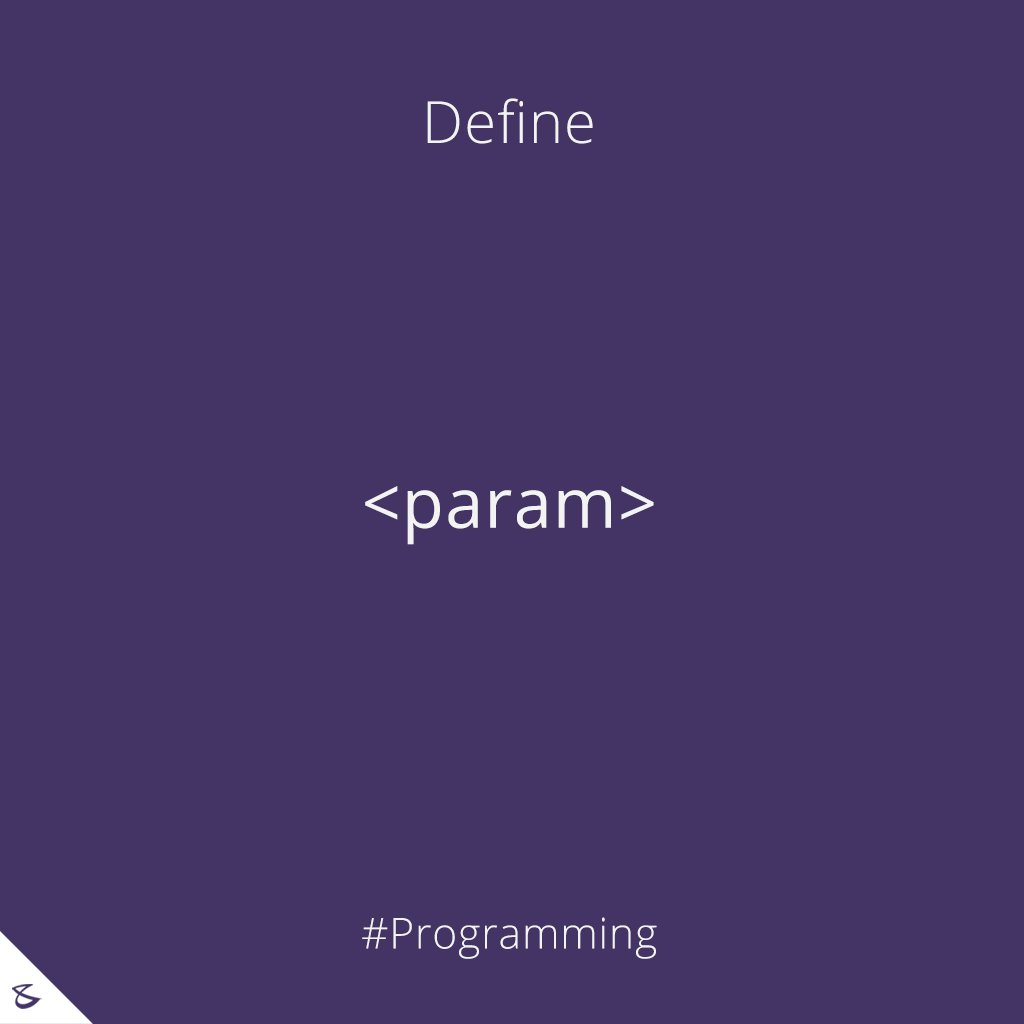 Can you define <param> tag?  hashtag#Business hashtag#Technology hashtag#Innovations hashtag#CompuBrain hashtag#Programming https://t.co/4iJMHQPDyZ