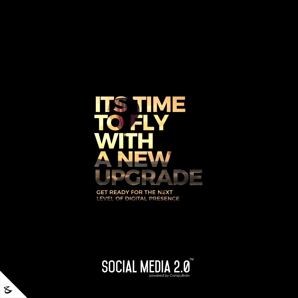 Its time to fly with a new upgrade!  #SearchEngineOptimization #SocialMedia2p0 #sm2p0 #contentstrategy #SocialMediaStrategy #DigitalStrategy #DigitalCampaigns #DigitalAgencyIndia #CompuBrain #Business #Technology #Innovations #India https://t.co/8DKgdBTDhK