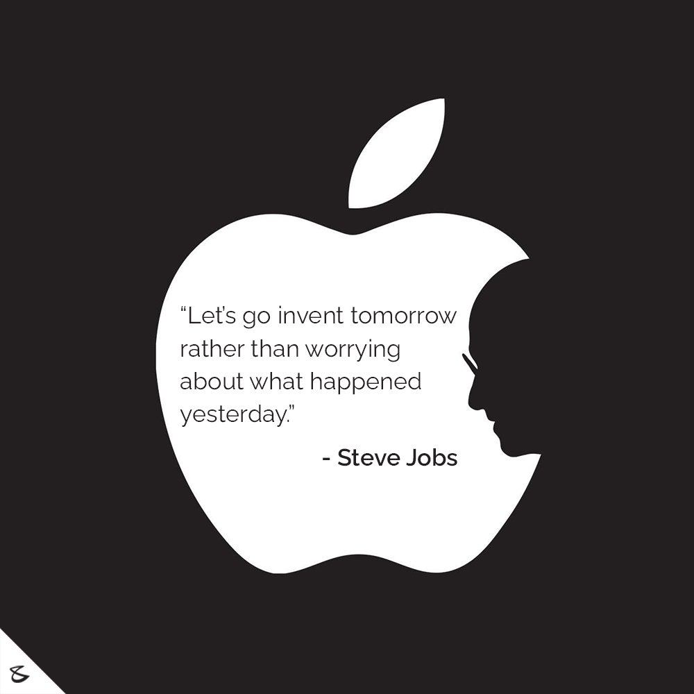 Let's go invent tomorrow rather than worrying about what happened yesterday. - Steve Jobs  #SteveJobs #Apple #CompuBrain #Business #Technology #Innovation https://t.co/enryQfpxYm