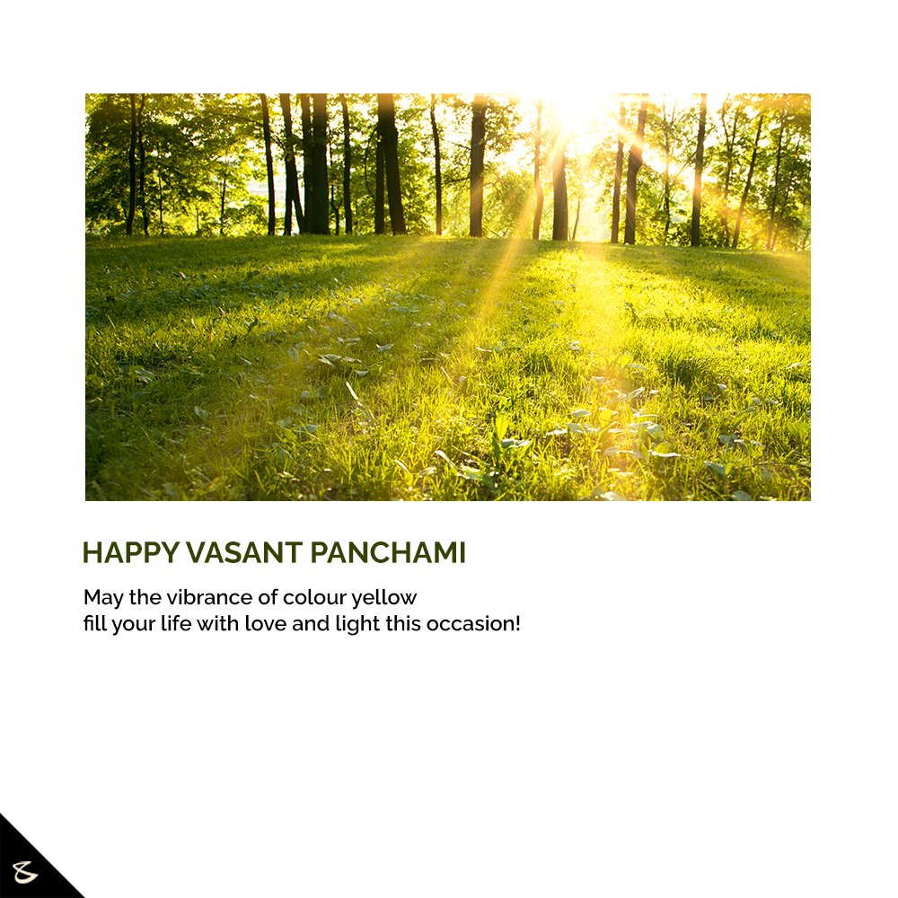 May the vibrance of colour yellow fill your life with love and light this occasion!  Happy Vasant Panchami  #VasantPanchami #HappyVasantPanchmi #SaraswatiPuja #VasantPanchami2021 #CompuBrain #Business #Technology #Innovations https://t.co/Kjth8F0aUk