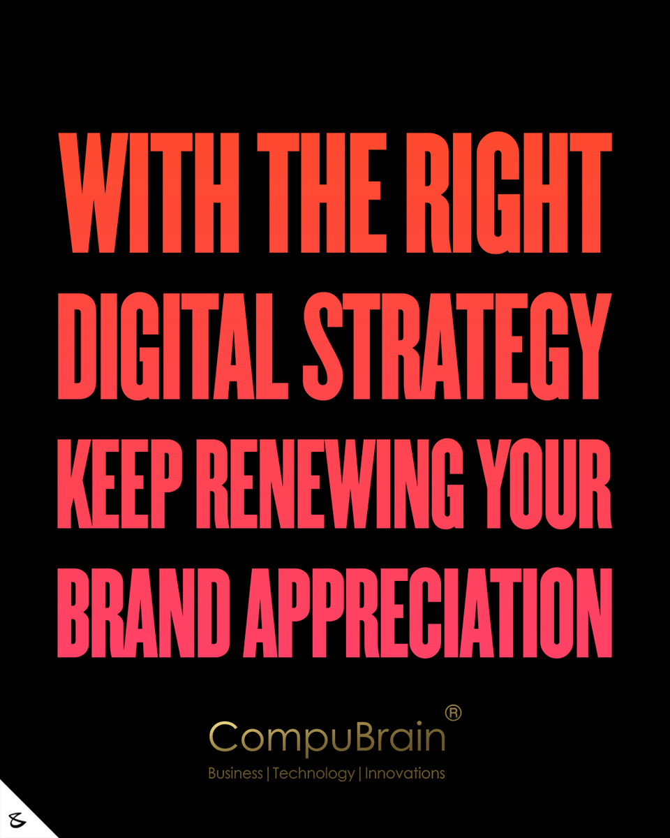 The Right Digital Strategy takes you a long way!  #CompuBrain #Business #Technology #Innovations #Explore #Marketing #SocialMedia #Digital https://t.co/akcunTET7O