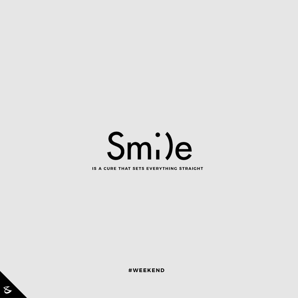 All you need to do is S M I L E ;)   #Weekend #WeekendMode #Business #Technology #Innovations https://t.co/C0KF21QN2f
