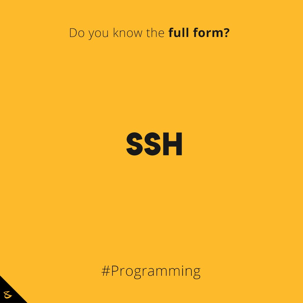 Do you know the full form?  #DidYouKnow #Business #Technology #Innovations #SSH https://t.co/Ya5u4wuIaH