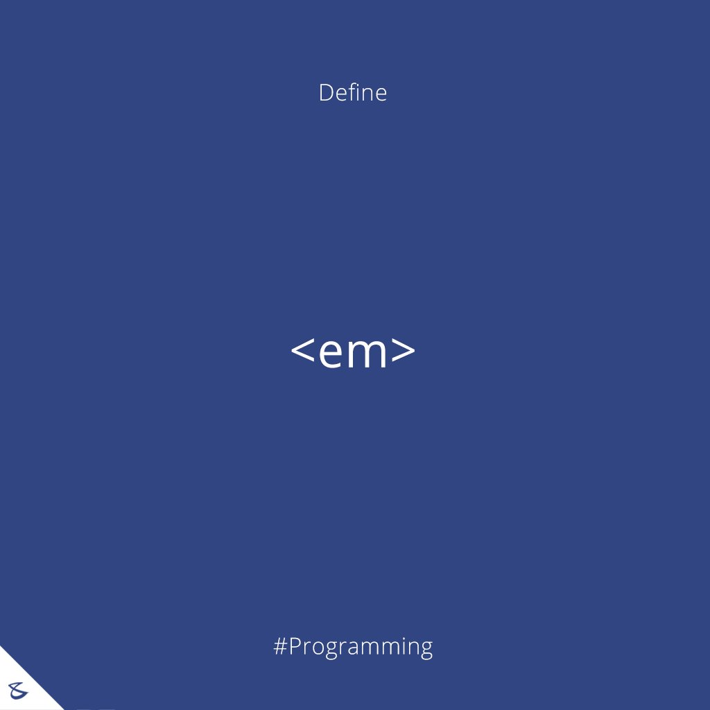 Define <em> HTML tag ?  #Programming #Business #Technology #Innovations #CompuBrain https://t.co/or0bRyj66y